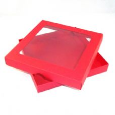 "9"" x 9"" Red Invitation Boxes With Aperture Lid"